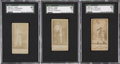Boxing Cards:General, 1888 N332 S.F. Hess SGC-Graded Trio (3)....