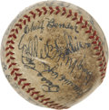 Autographs:Baseballs, 1939 Philadelphia Athletics Reunion Game Last Out Baseball Signed by 1910 & 1929 World Champion Team Members....