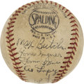 Autographs:Baseballs, 1944 Pittsburgh Pirates Team Signed Baseball with Honus Wagner....