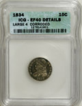 Bust Dimes: , 1834 10C Large 4--Corroded--ICG. XF40 Details. PCGS Population(8/83). (#4526)...