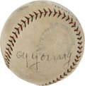 Autographs:Baseballs, Late 1920's Cy Young Signed Baseball....