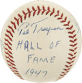 Autographs:Baseballs, 1962 Hall of Famers Signed Baseball with Traynor, Paul Waner, Sisler....