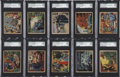 "Non-Sport Cards:Singles (Pre-1950), 1939 R156 Gunmakers ""True Spy Stories: SGC- Graded Complete Set(24)...."