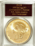 "S.S.C.A. Relic Gold Medals, 1855 $50 SSCA Relic Gold Medal ""1855 Kellogg & Co. Fifty"" GemUncirculated MS65 PCGS...."