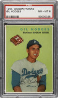 Baseball Cards:Singles (1950-1959), 1954 Wilson Franks Gil Hodges PSA NM-MT 8....