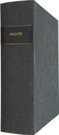 Books:First Editions, Large Solander Case Labeled Prints For the Storage ofPrints....