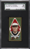 Baseball Cards:Singles (Pre-1930), 1911 T205 Gold Border Walter Johnson SGC 80 EX/NM 6....
