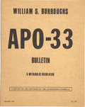 Books:Pamphlets & Tracts, William S. Burroughs' APO-33 Bulletin [and] Claude Pelieu'sOpal U.S.A.... (Total: 2 Items)