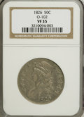 Bust Half Dollars: , 1826 50C VF35 NGC. O-102. NGC Census: (19/1422). PCGS Population(33/1083). Mintage: 4,000,000. Numismedia Wsl. Price for ...