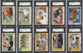 Football Cards:Sets, 1955 Topps All American Football High-Grade Complete Set (100)....