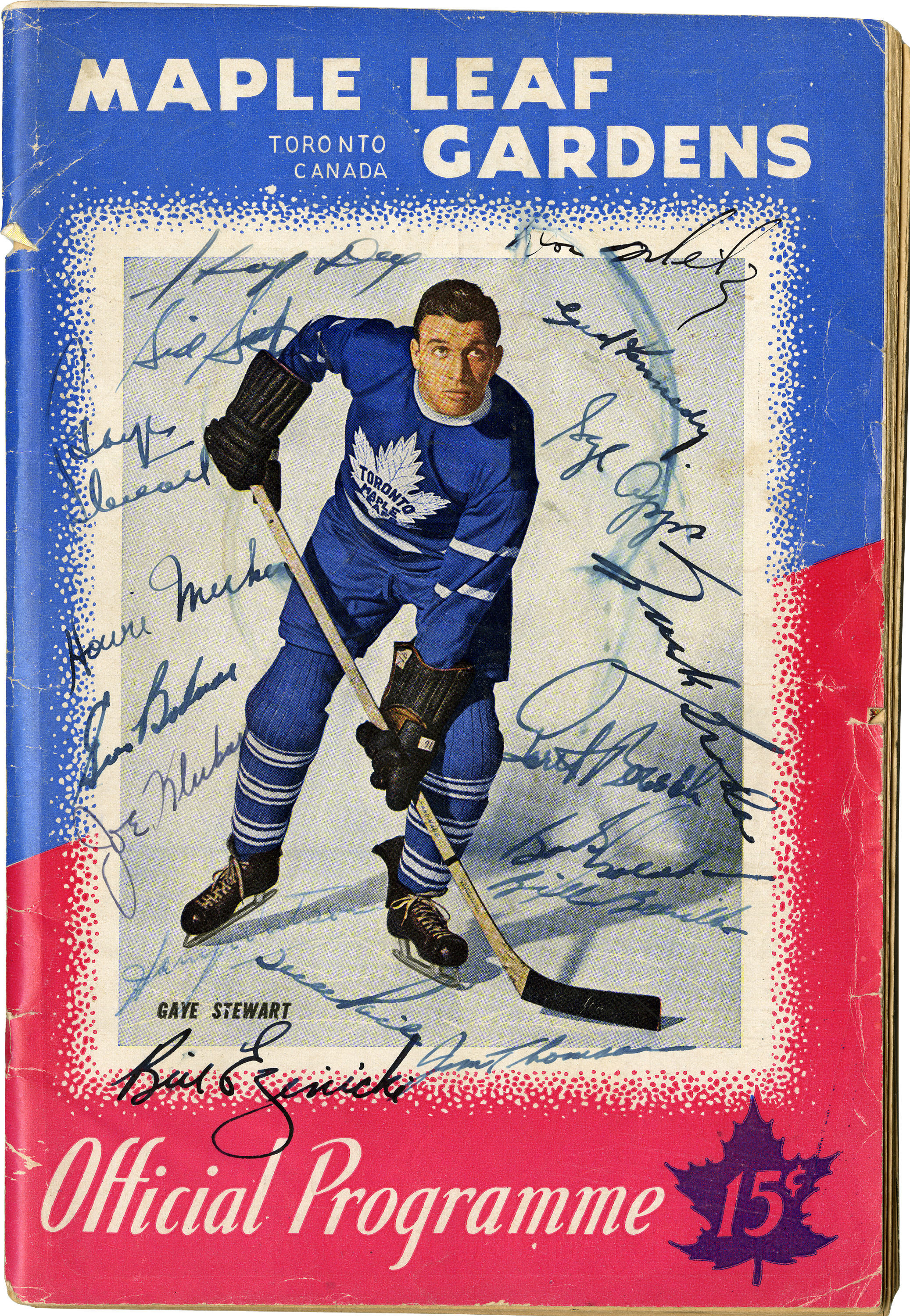 first rate 022d2 f9431 1946-47 Toronto Maple Leafs Program Signed by 17.... Hockey ...