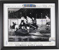 Hockey Collectibles:Others, 1951-52 Toronto Maple Leafs Team Signed Oversized Photograph Display with King Clancy, Bill Barilko....