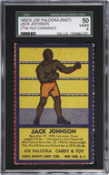 Boxing Cards:General, 1950's R437 Comics Novelty & Candy Co. Jack Johnson SGC 50VG/EX 4. ...