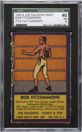 Boxing Cards:General, 1950's R437 Comics Novelty & Candy Co. Bob Fitzsimmons SGC 40VG 3....
