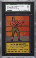Boxing Cards:General, 1950's R437 Comics Novelty & Candy Co. Jack McAuliffe SGC 20 FR1.5 (Uncatalogued). ...
