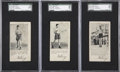 Boxing Cards:General, 1927 F52 Fro-Joy Gene Tunney SGC-Graded Trio (3)....