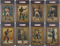 Boxing Cards:General, 1911 T9 Turkey Red Boxers PSA-Graded Partial Set (19)....