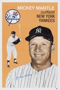 Autographs:Others, Circa 1990 Mickey Mantle Signed Poster....