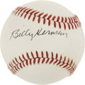Autographs:Baseballs, Billy Herman Single Signed Baseball. ...