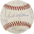 Autographs:Baseballs, 1971 Oakland Athletics Team Signed Baseball.. ...