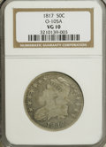 Bust Half Dollars, 1817 50C VG10 NGC. O-105 A. NGC Census: (1/331). PCGS Population(1/327). Mintage: 1,215,567. Numismedia Wsl. Price for NG...