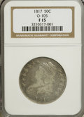 Bust Half Dollars: , 1817 50C F15 NGC. O-105. NGC Census: (2/323). PCGS Population(5/319). Mintage: 1,215,567. Numismedia Wsl. Price for NGC/P...
