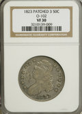 Bust Half Dollars: , 1823 50C Patched 3 VF30 NGC. O-102. NGC Census: (1/37). PCGSPopulation (1/37). Numismedia Wsl. Price for NGC/PCGS coin i...