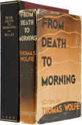 Books:First Editions, Thomas Wolfe. From Death to Morning. New York: CharlesScribner's Sons, 1935. First edition, first issue. ...