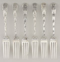 Silver Flatware, American:Tiffany, A SET OF SIX AMERICAN SILVER LUNCHEON FORKS. Tiffany & Co., NewYork, New York, circa 1890. Marks: TIFFANY & CO.,STERLING... (Total: 6 Items)