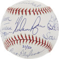 "Autographs:Baseballs, ""50 Shutout Club"" Multi-Signed Baseball...."