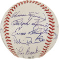 Autographs:Baseballs, 1997 Signed Hall Of Fame Induction Ball. ...