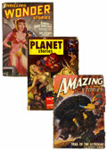 Pulps:Science Fiction, Miscellaneous Science Fiction Pulps (Various Publishers, 1937-65)Condition: Average GD....
