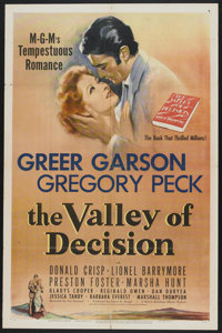 "The Valley of Decision (MGM, 1945). One Sheet (27"" X 41""). Drama"