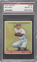 Baseball Cards:Singles (1930-1939), 1933 Goudey Moe Berg #158 PSA NM-MT 8....