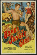 "Movie Posters:Adventure, Bomba and the Jungle Girl (Monogram, 1952). One Sheet (27"" X 41"").Adventure...."