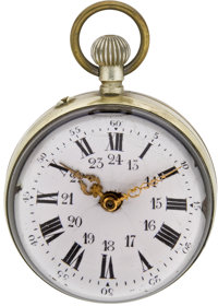 Glass Ball Form Desk Clock, circa 1895