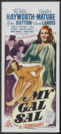"Movie Posters:Musical, My Gal Sal (20th Century Fox, 1942). Australian Daybill (13"" X30""). Musical...."