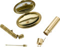 Estate Jewelry:Lots, Lady's Gold Accessories Lot. ... (Total: 3 Items)