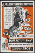 "Movie Posters:Cult Classic, All Twistin' Rockin' Rollorama Show (American International, R-1961). One Sheet (27"" X 41""). Cult Classic...."