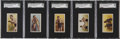 "Boxing Cards:General, 1910 E79 Philadelphia Caramel ""27 Scrappers"" SGC-Graded Group of(5)...."