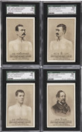 Boxing Cards:General, 1887 N269 Lorillard's Boxers SGC-Graded Quartet (4) - Each theHighest Grade Known. ...