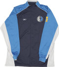 Basketball Collectibles:Uniforms, 2006 Dirk Nowitzki NBA Finals Game Worn Warm-Up Suit....