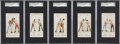 """Boxing Cards:General, 1893 N266 Red Cross """"Boxing Positions & Boxers"""" SGC-GradedGroup of (5). ... (Total: 5 item)"""