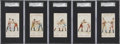 "Boxing Cards:General, 1893 N266 Red Cross ""Boxing Positions and Boxers"" SGC-GradedCollection (5). ... (Total: 5 item)"