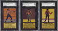 Boxing Cards:General, 1950's R437 Comics Novelty & Candy Co. SGC-Graded Trio (3). ...
