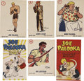"Boxing Cards:General, 1950's ""Joe Palooka"" Novelty Collection (7 Items). ..."