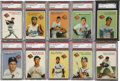 Baseball Cards:Sets, 1954 Wilson Franks Fully Graded Complete Set (20). ...