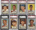 Baseball Cards:Lots, 1952 Topps Baseball Graded Hi Numbers Collection (8)....