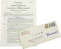 Baseball Collectibles:Others, 1941 Stan Musial Class AA Baseball Contract....