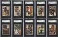 Non-Sport Cards:General, 1954 Topps Scoop SGC 92 NM/MT+ 8.5 Collection (10)....